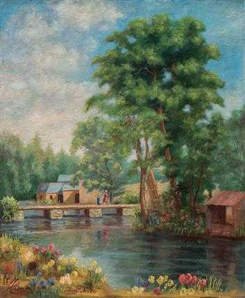 آرتچارت | دهکدهای در کنار رود سن، پاریس (پونت آون) از ابوالحسن صدیقی