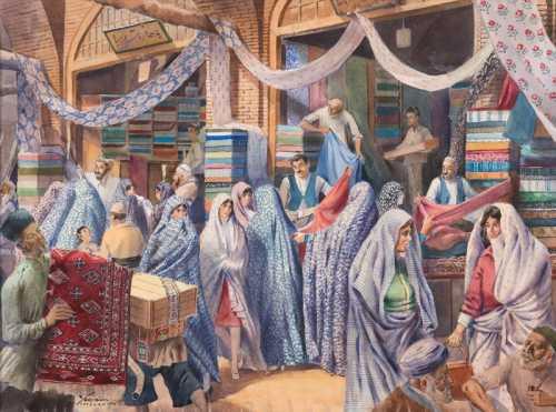 آرتچارت | بازار پارچه فروشان از یرواند نهاپتیان